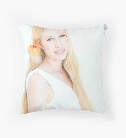 High Key Portrait Throw Pillow