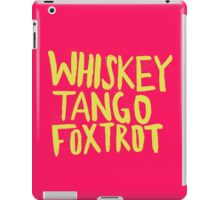 Whiskey Tango Foxtrot - Color Edition iPad Case/Skin