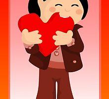 Nibbling Heart Boy Valentine by elledeegee
