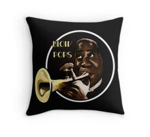 Louis Armstrong - Blow Pops Throw Pillow