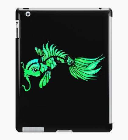Green Koi Fish iPad Case/Skin