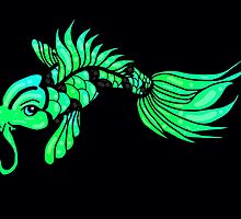 Green Koi Fish by AuraNightRose