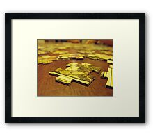 I was puzzled! Framed Print