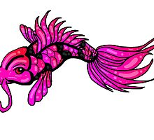 Pink Koi Fish by AuraNightRose