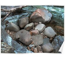 Boulders at Nancy Brook Poster