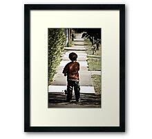 Skater Boys Tunnel Vision Framed Print