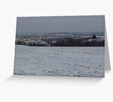 Snowscape, Bristol, England Greeting Card