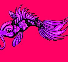 Purple Koi Fish by AuraNightRose