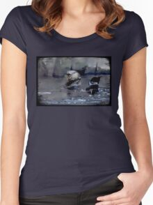Strike a Pose Women's Fitted Scoop T-Shirt