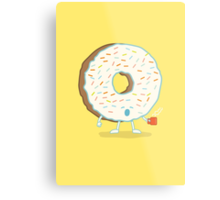 The Sleepy Donut Metal Print