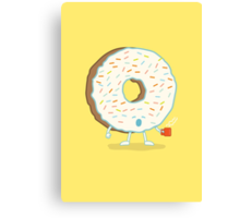 The Sleepy Donut Canvas Print