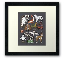 Avatar Menagerie Framed Print
