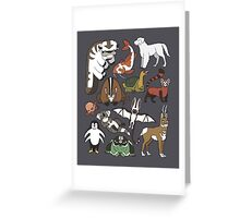 Avatar Menagerie Greeting Card