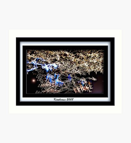 City Lights Moving, Enhanced Art Print