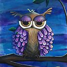 Night Owl Acrylic Painting by Kristy Spring-Brown