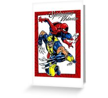 Thwip and Snikt Greeting Card