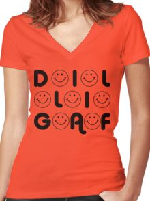 DILLIGAF....LOL Women's Fitted V-Neck T-Shirt