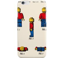 Lego Man Patent - Colour (v2) iPhone Case/Skin