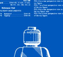 Lego Man Patent - Blueprint (v1) Sticker