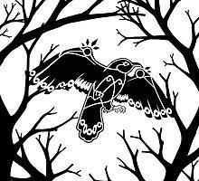 Tribal Crow by RangeOfOddities