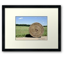 Hay Bale on the Country Road Framed Print