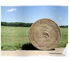 Hay Bale on the Country Road Poster