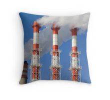 Power plant fumes Throw Pillow