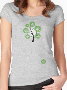 Green summer Women's Fitted Scoop T-Shirt