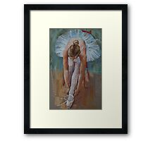 Tying her Shoes Framed Print