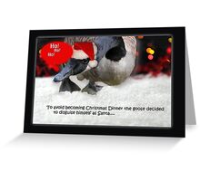 Clever Christmas Goose Greeting Card