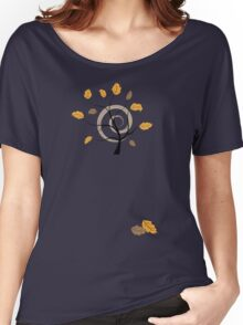 Orange autumn Women's Relaxed Fit T-Shirt
