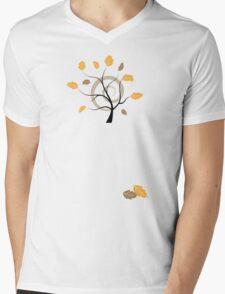 Orange autumn Mens V-Neck T-Shirt