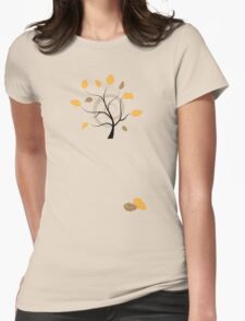 Orange autumn Womens Fitted T-Shirt
