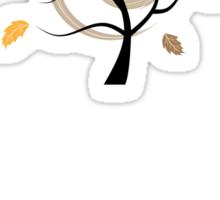 Orange autumn Sticker
