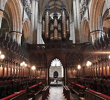 Inside Beverley Minster by Mark Baldwyn