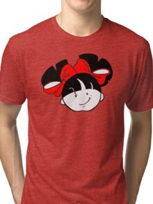 Tullulah with red ribbons Tri-blend T-Shirt