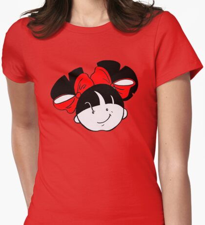 Tullulah with red ribbons Womens Fitted T-Shirt