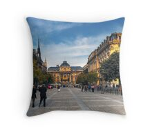 Rue De La Cite Throw Pillow