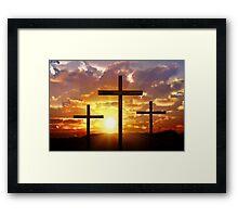 Jesus God Christianity Religion Crucifiction Framed Print