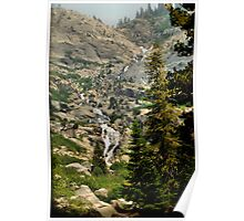 Sequoia Waterfall Poster