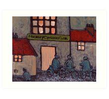 Mickley cycling club in circa 1914 Art Print
