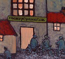Mickley cycling club in circa 1914 by sword