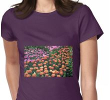 Pink and Orange Tulips - Keukenhof Gardens, Netherlands Womens Fitted T-Shirt