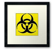 Bio-hazardous Material Framed Print