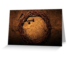 Jesus Crown of Thorns and Nails Greeting Card