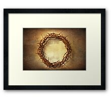 Jesus God Christianity Religion Crucifiction Crown of Thorns Framed Print