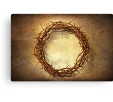 Jesus God Christianity Religion Crucifiction Crown of Thorns Canvas Print