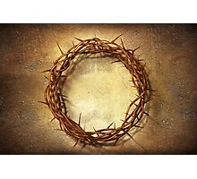 Jesus God Christianity Religion Crucifiction Crown of Thorns Photographic Print