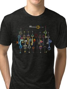 Kingdom Hearts Keyblades Tri-blend T-Shirt
