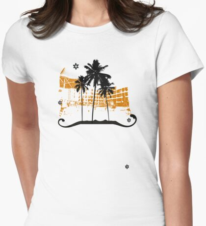 Summer holiday Womens Fitted T-Shirt